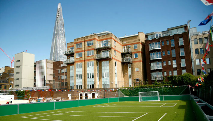 Small sided football at the Shard, London, UK