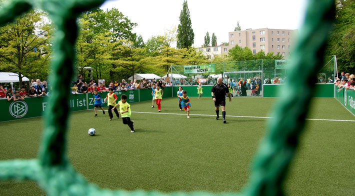 Small sided mini soccer pitch
